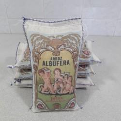 Arroz Albufera saquito tela 1 kg.